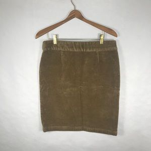 American Living Corduroy Tan Skirt Size 12